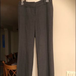ANN TAYLOR GRAY LINED TROUSER PANT